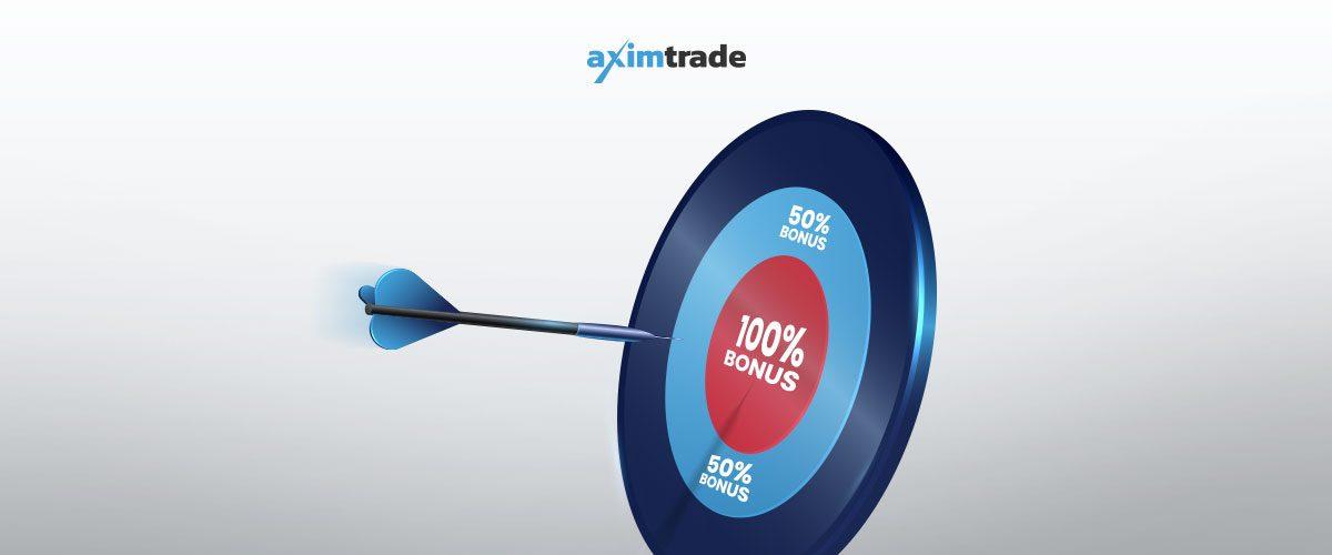 100% deposit bonus AximTrade Updates