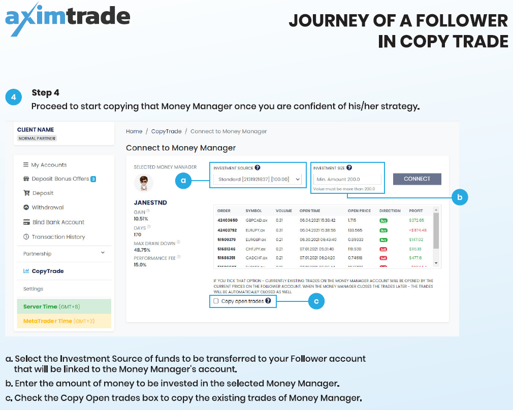 Copy Trade with AximTrade Trading With AximTrade